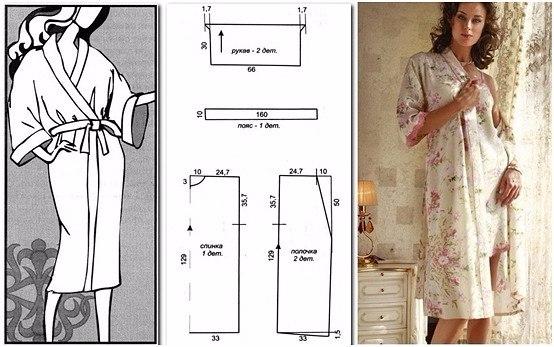 Сшить своими руками женский халат 464
