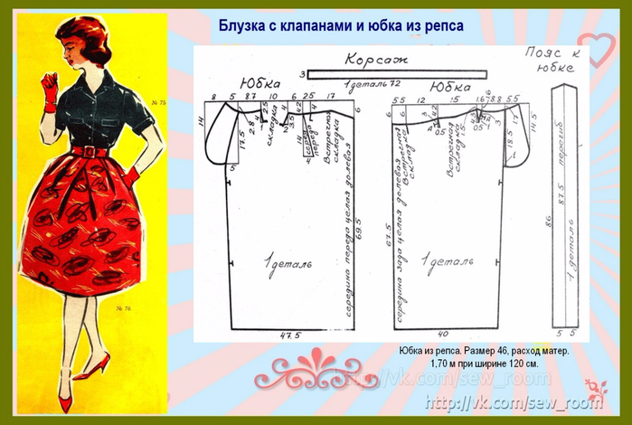 Как пошить юбку колокольчик своими руками