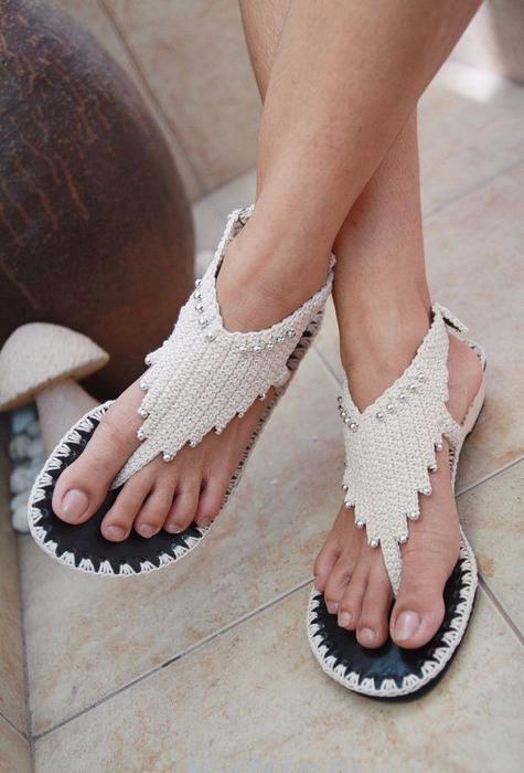 Обувь своими руками вязаная крючком