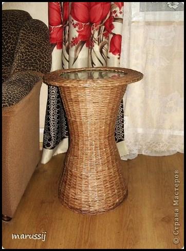 Столик со стеклом из газетных трубочек. ПЛЕТЕНИЕ (15) (362x488, 201Kb)