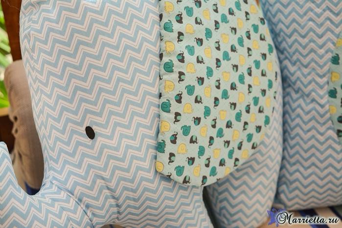 Детская подушка «Слоник». Шьем сами (1) (700x467, 413Kb)