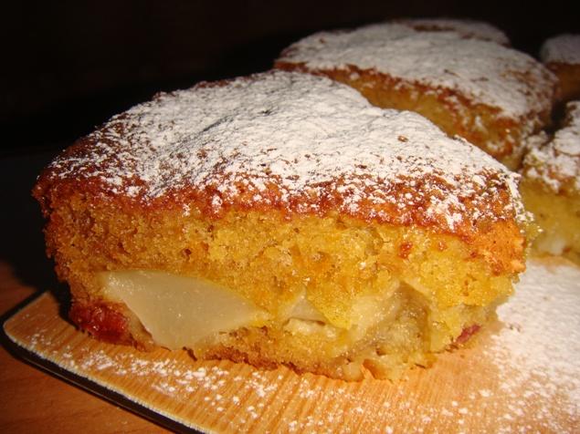 Простой пирог с грушами рецепт