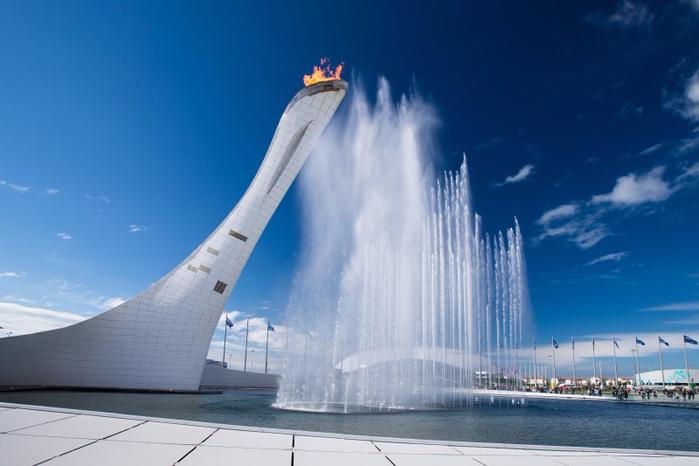 4. Олимпийский парк. Фонтан (700x466, 244Kb)