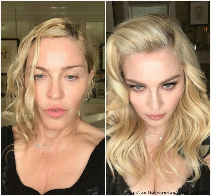 лицо до бала мадонна выложила селфи без макияжа