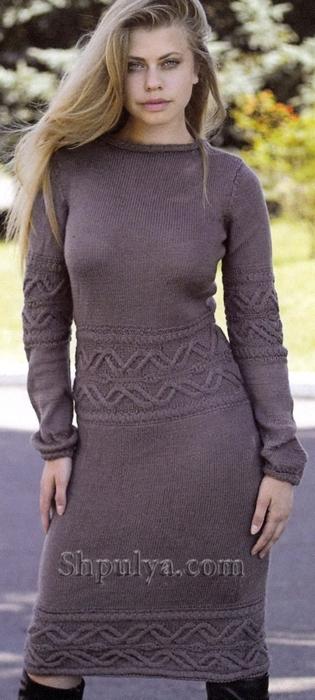 Вязаное платье из кашемира, платье спицами описание, вязаное платье, вязание спицами, вязание для женщин, женское платье связать, /5557795_1526_1 (315x700, 178Kb)