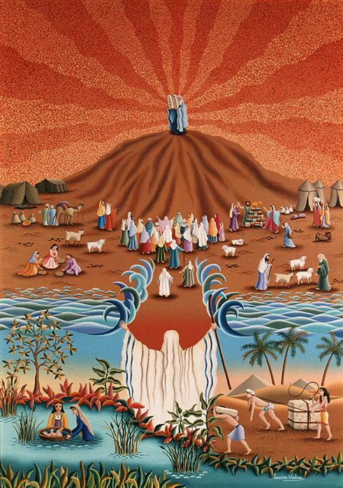 53-Moises-y-el-exodo-de-Egipto-50x70-cm (491x700, 630Kb)