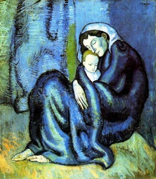 Пабло Пикассо «Мать и дитя» (530x608, 339Kb)