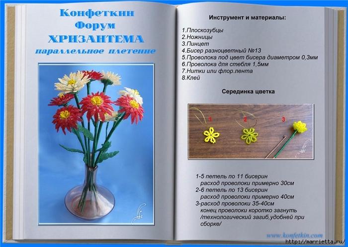 Цветы из бисера. Хризантемы (2) (700x497, 261Kb)