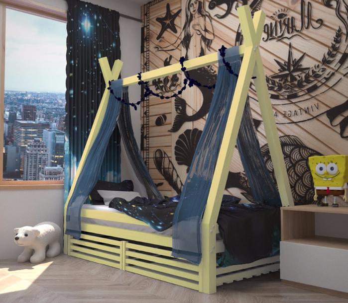 кровать с ящиками купить недорого в москве цена от производителя недорого скидки и акции односпальная с перекладиной для шторки для детей деток детская кроватка (700x610, 468Kb)