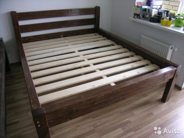 кровать двуспальная для двоих купить недорого цена от производителя кровать каркас под матрас из дерева деревянная массив дерева (640x480, 240Kb)