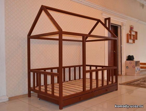 купить кровать с бортиками домик детский недорого дешево цена от производителя фабрики мебели по акции и скидке заказать в москве (561x429, 219Kb)