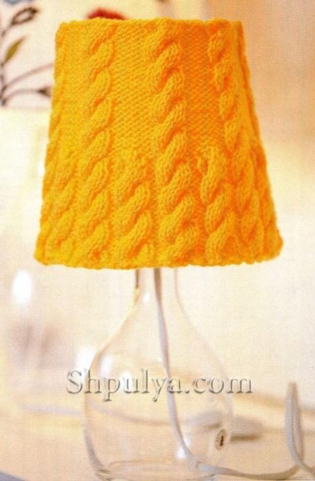 Желтый абажур с косами спицами, абажур спицами, вязание для дома спицами, вязание для дома с описанием, абажур вяжем, вязание абажура спицами, /5557795_1760_1 (457x700, 211Kb)