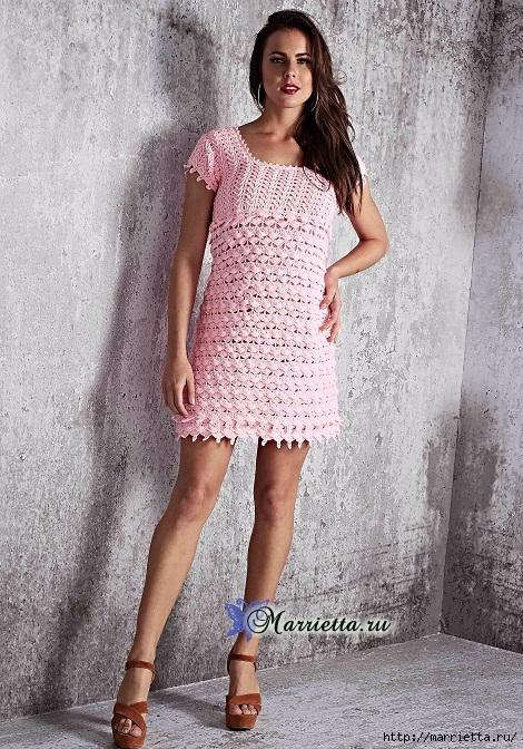 Нежное розовое летнее платье крючком (4) (470x672, 331Kb)
