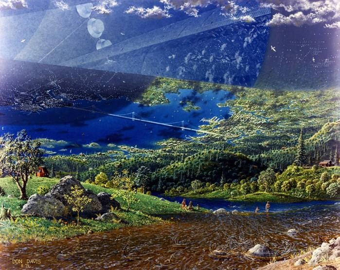 Космические колонии будущего в представлении художников NASA