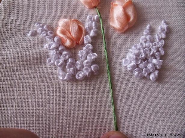 Вышивка лентами «Букет весенних цветов» (18) (615x461, 263Kb)
