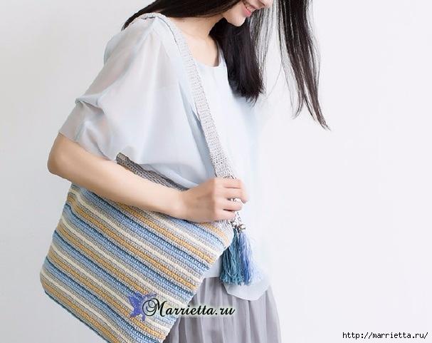 Летняя сумка-мешок крючком. Схемы вязания (1) (607x481, 142Kb)