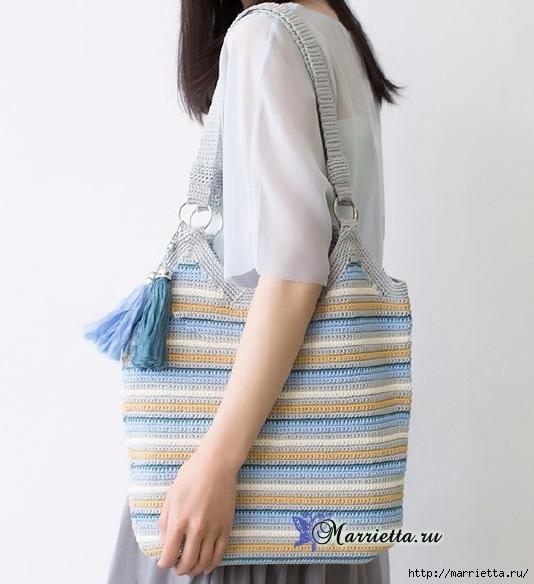 Летняя сумка-мешок крючком. Схемы вязания (7) (534x584, 147Kb)