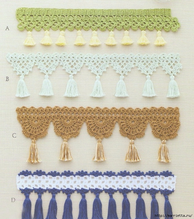 Кружевная тесьма крючком. Схемы вязания (1) (621x700, 399Kb)