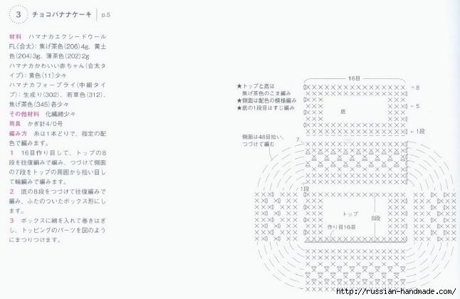 Вязаные крючком пирожные. Схемы вязания (5) (646x420, 117Kb)