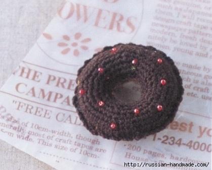 Вязаные крючком пирожные. Схемы вязания (11) (419x337, 89Kb)