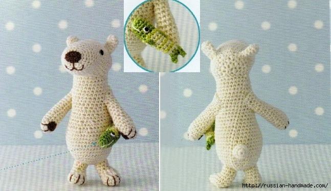 Амигуруми. Схемы вязания белого медведя, кроликов и котят (2) (647x373, 212Kb)