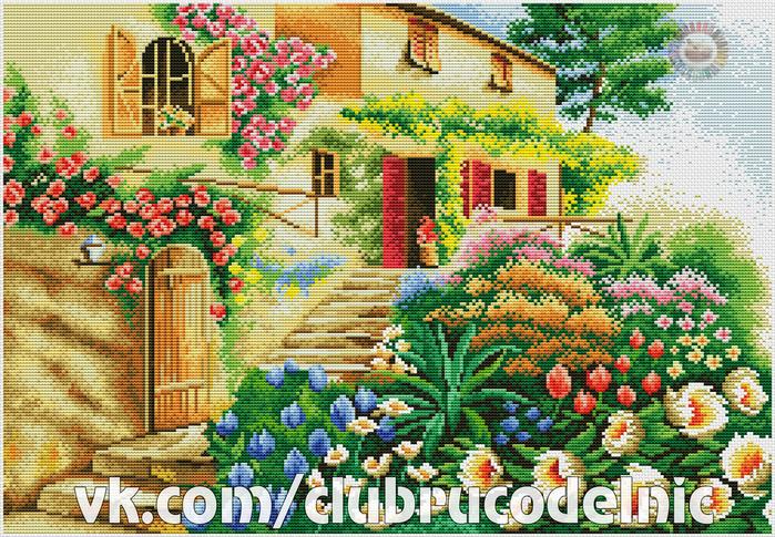 Цветы у дома (700x485, 707Kb)