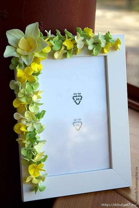 Рамка для с цветами из фоамирана