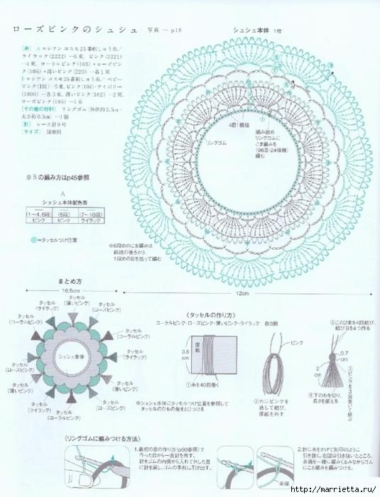 Бижутерия и аксессуары крючком. Схемы (8) (535x700, 261Kb)