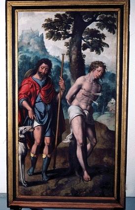 13 Ян ван Хемессен  Святые Рох и Себастьян (274x425, 161Kb)