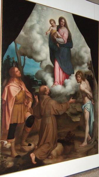 17 Энеа Сальмеджиа Дева Мария со святыми Рохом, Себастьяном и Антонием (336x600, 167Kb)