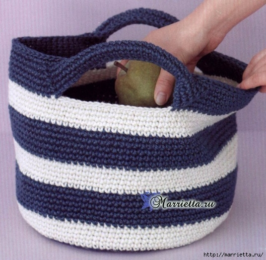 Летняя сумочка с ручками. Схема вязания крючком (8) (536x523, 201Kb)