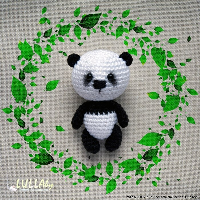 Схема вязания мишки панда 1