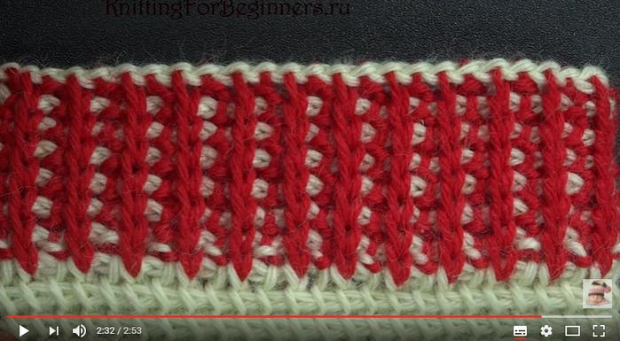 Вязание тунисское резинка 17