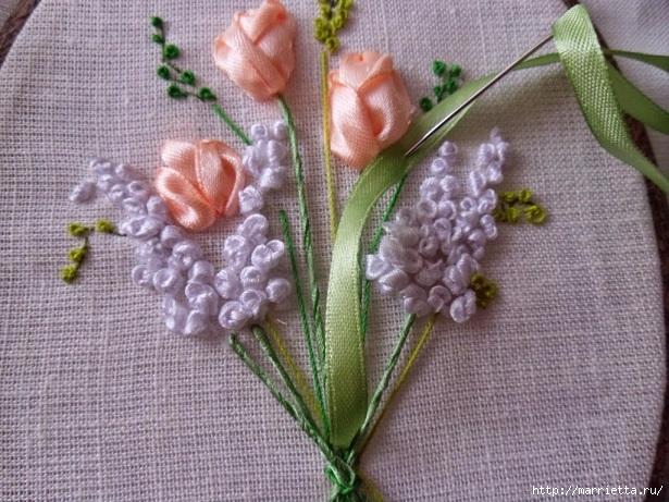 Вышивка лентами «Букет весенних цветов» (22) (615x461, 252Kb)