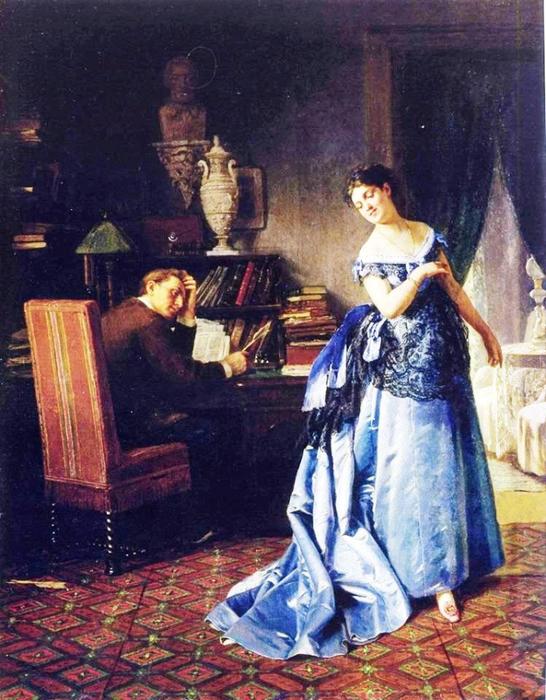 Фирс Журавлев. Жена-модница. 1872. (546x700, 438Kb)