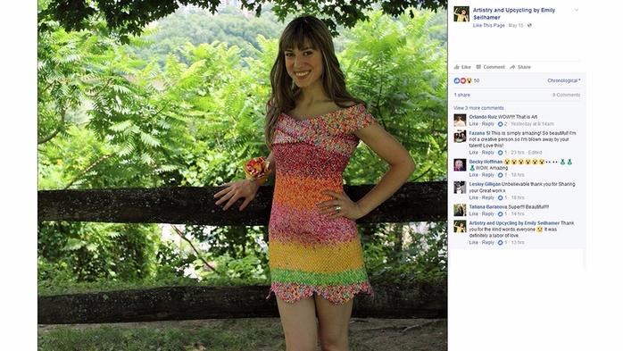 платье из фантиков Emily Seilhamer 9 (700x393, 323Kb)