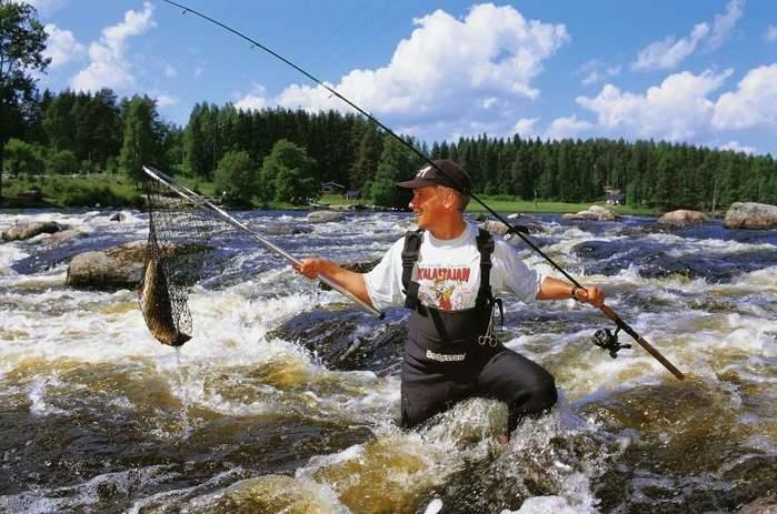 турист и рыбалка