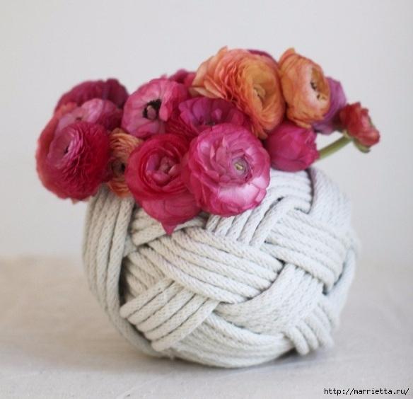 Стильные вазы из бельевой веревки (4) (584x564, 148Kb)
