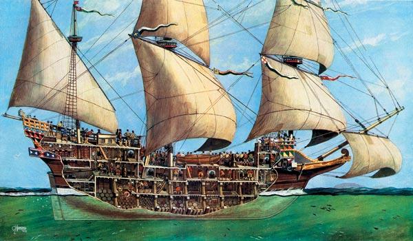 Как были устроены гальюны на кораблях броненосной эпохи