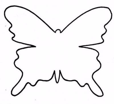 Порхающие фетровые бабочки - мобиль для детской кроватки (3) (400x363, 46Kb)