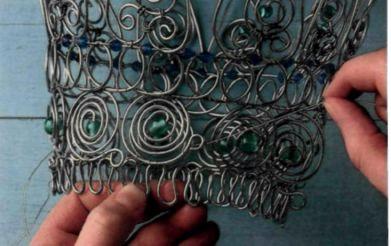 Плетем из проволоки. Как сделать мавританский абажур (16) (391x246, 94Kb)