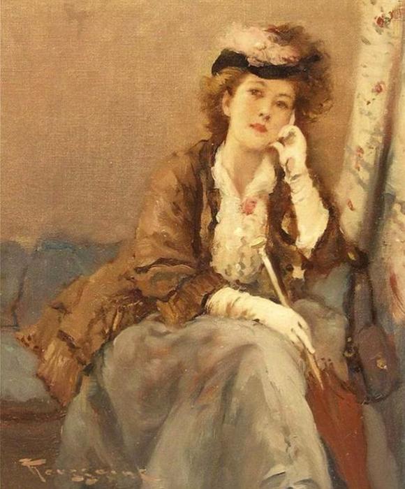 jeune femme à l'ombrelle (580x700, 391Kb)