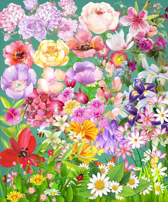 Цветы на прозрачном фоне, 43 png.