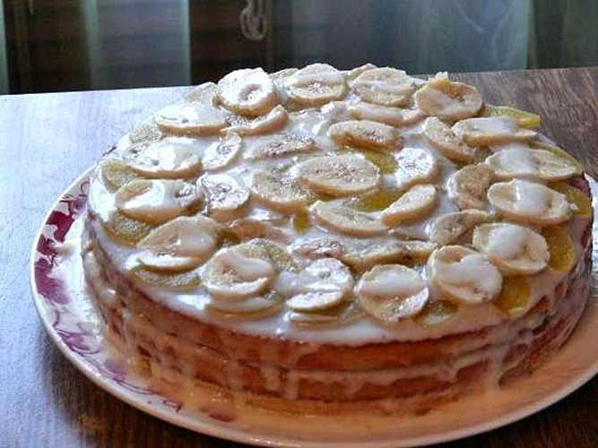 Бисквитный торт своими руками из сметаны