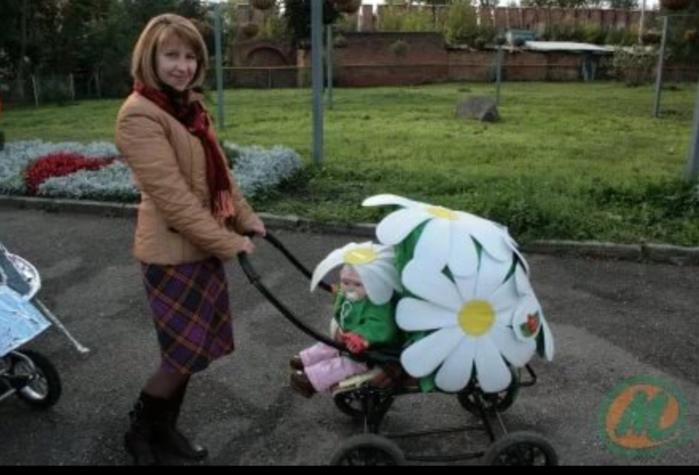 Как украсить детскую коляску для девочки своими руками