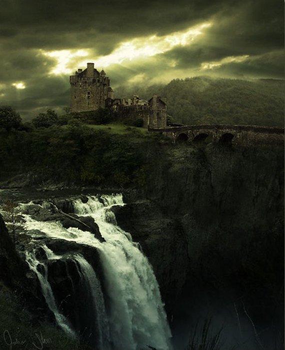 Водопад, Замок и Небо */3071837_16 (570x700, 64Kb)