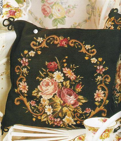 Картина вышивки на подушку