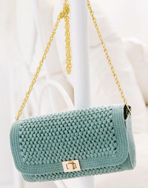 Большая коллекция - вязаные сумки и схемы вязания