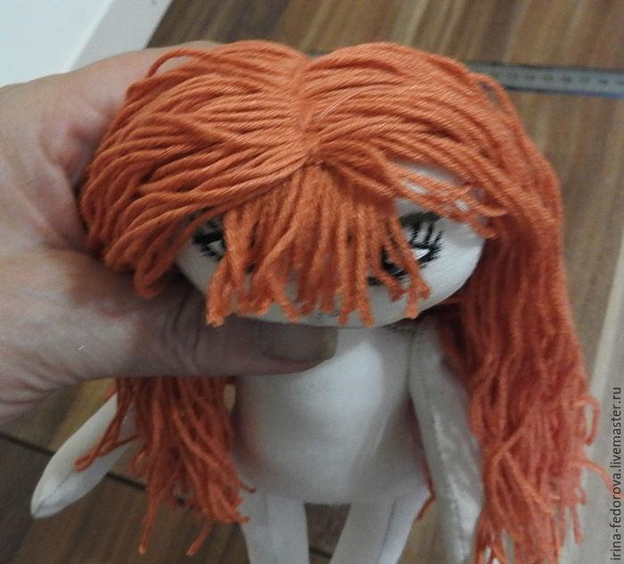 Как из ниток сделать волосы для куклы 429