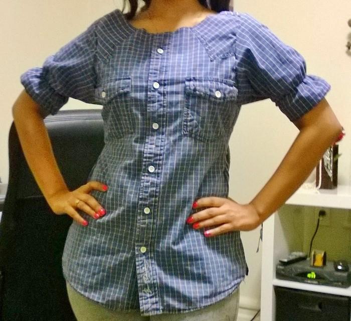 Блузка Из Рубашки Своими Руками В Омске